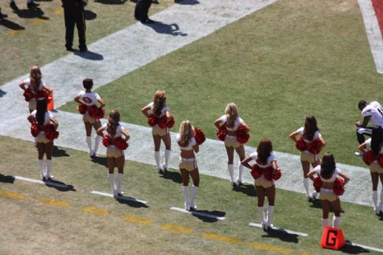 The 49ers cheerleaders