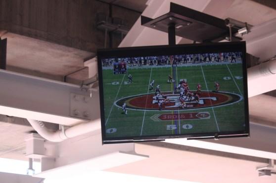 One of 2,000 Sony TVs in the stadium.