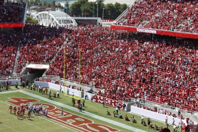 453647ca363a4 Above  Levi s Stadium is the home of the San Francisco 49ers and one of the  most connected stadiums in the NFL.