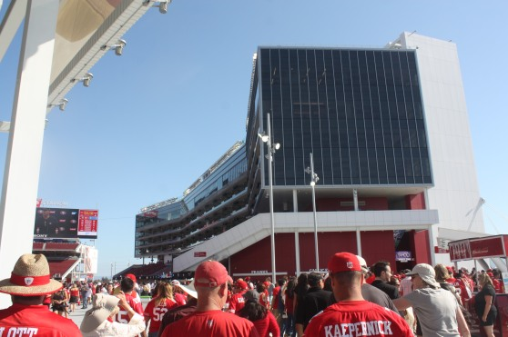 The view entering the stadium.