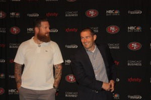 Dan Williams and Al Guido of the 49ers