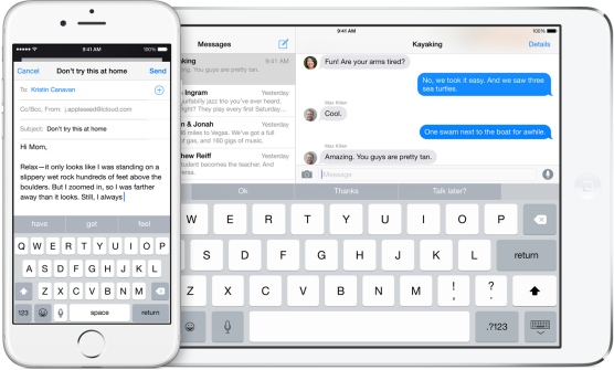 iOS 8's revamped keyboard