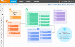 A screen from Salesforce's Journey Builder for Apps