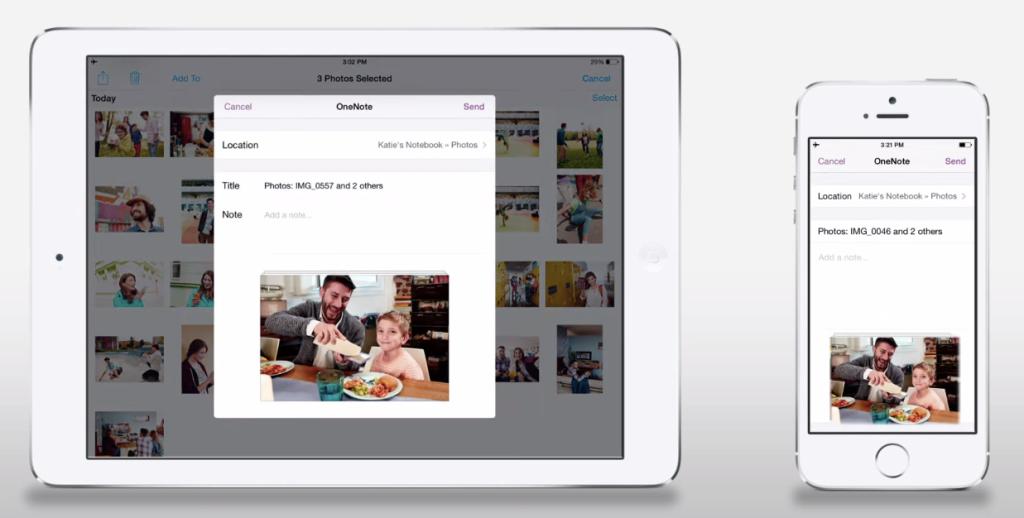 OneNote on iOS 8.