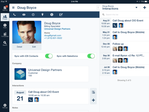 Version 2.0 of AppMesh, the sales rep's personal CRM