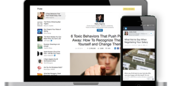 LinkedIn's latest update adds Pulse news integration and a revamped design