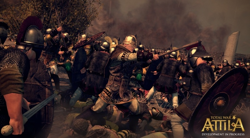 Total War: Attila can zoom in on soldier-to-soldier combat.