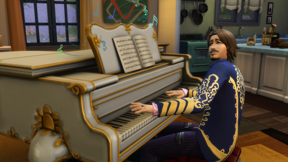 The Sims 4 piano