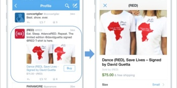 """Twitter's """"Buy"""" button is here — starting on mobile"""