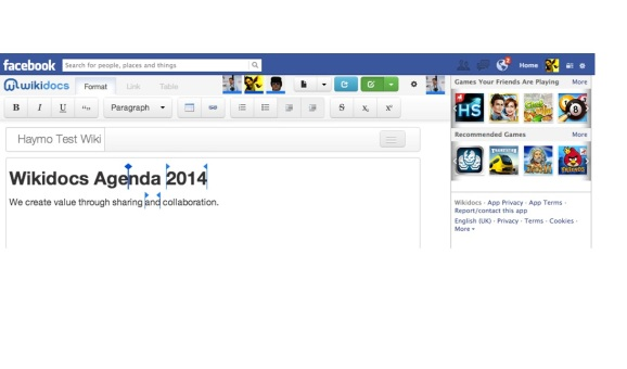 Wikidocs tech enabling collaborative editing in Facebook