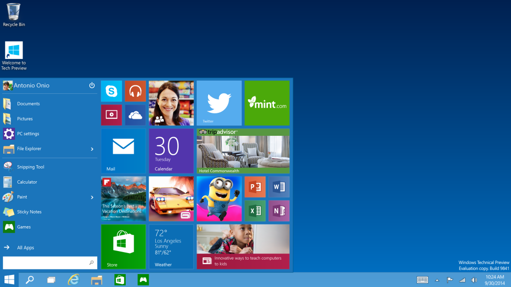 Windows' Start menu has returned.