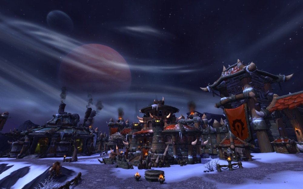 Warcraft Horde garrison in Warlords of Draenor