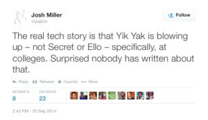 Josh Miller Yik Yak