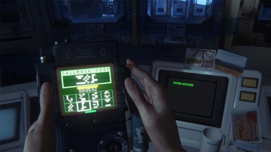The hacking mini-game takes two forms -- this, where you need to match up symbols, and one where you need to push a button right at a highlighted sweet spot as an arrow moves side to side on a number of bars. These were fun distractions and, as Ripley upgrades her decoder, can be tempting to go back and try accessing locked terminals you couldn't get to before.