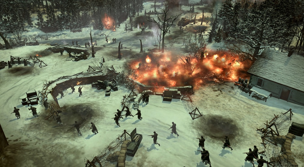 Company of Heroes 2: Ardennes Assault. A big explosion.