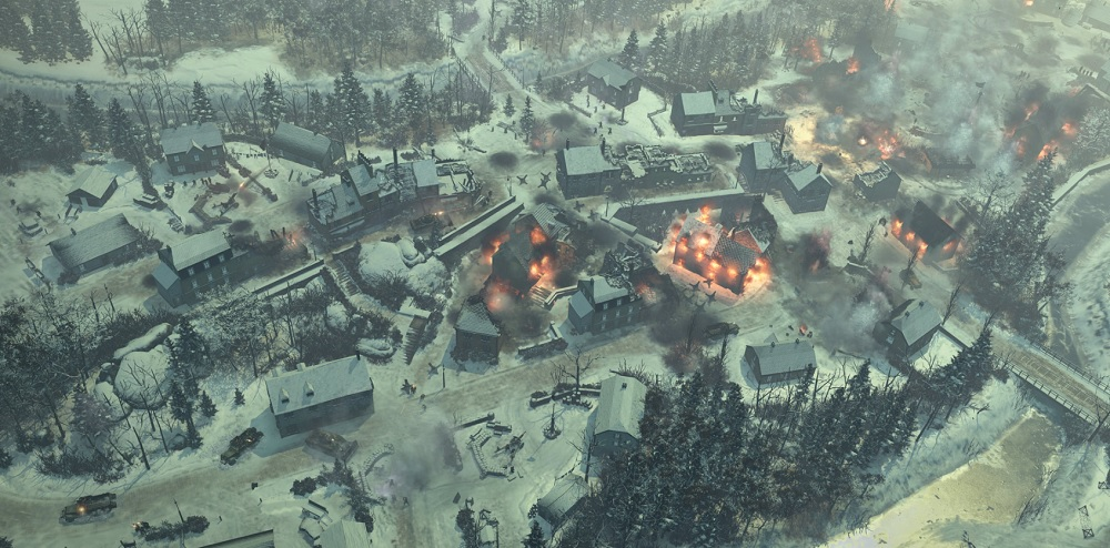 Company of Heroes 2: Ardennes Assault. Fires at Houffalize.