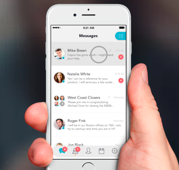 The Avaamo messaging app for business