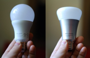 The Belkin WeMo (left) and Philips Hue (right).