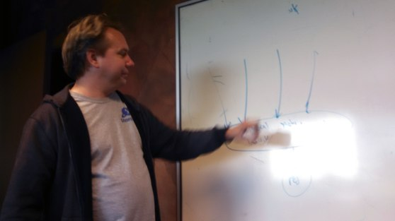 Brad Wardell at a whiteboard