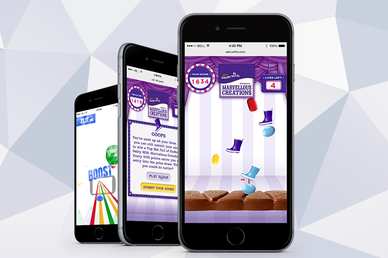 Game-like ads on mobile from Celtra.