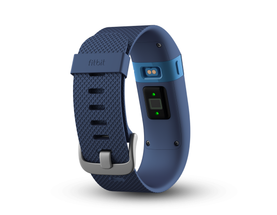 The Fitbit Charge HR has a heartbeat sensor on the back.