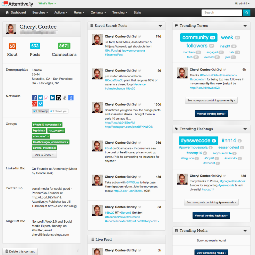 A screen of social listening in Attentive.ly