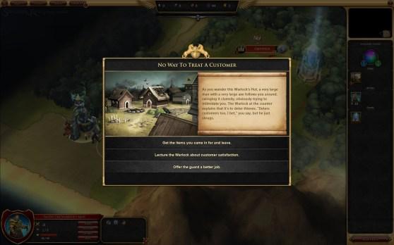 Sorcerer King dialog options