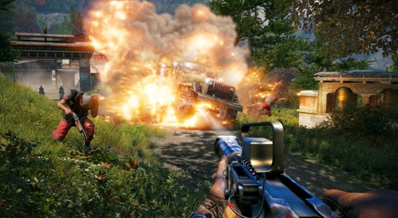 Explosion in Far Cry 4