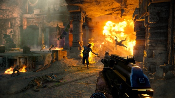 You can blow up your enemies with well-placed shots in Far Cry 4.