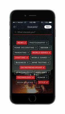 A screenshot of Flipboard's new Topic Picker via the updated iPhone app.