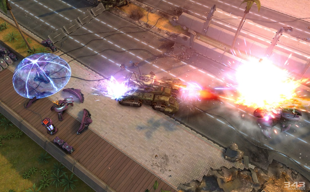 Halo: Spartan Strike tank