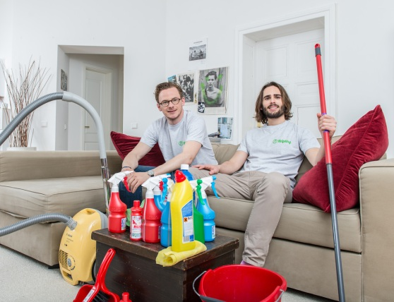 Helpling co-founders Benedikt Franke (left) and  Philip Huffmann.