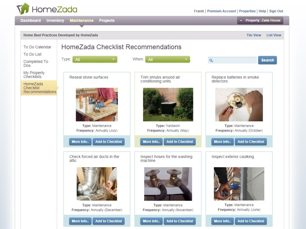 HomeZada makes sure you know all the things you have to do.