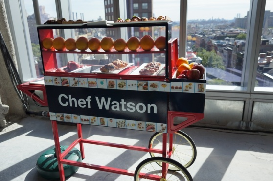IBM's Chef Watson cart (there's no actual Watson computer here)