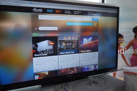 WayBlazer's prototype site for Austin