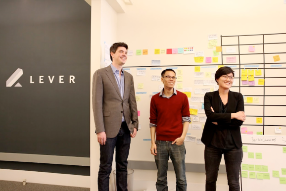 Lever co-founders Nate Smith, Randal Truong, and Sarah Nahm