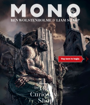 The first chapter of motion book Mono: The Old Curiosity Shop by Madefire founders Ben Wolstenholme and Liam Sharp.
