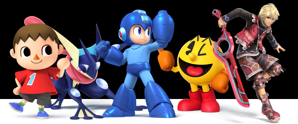 Just some of the new characters in Super Smash Bros. for 3DS.