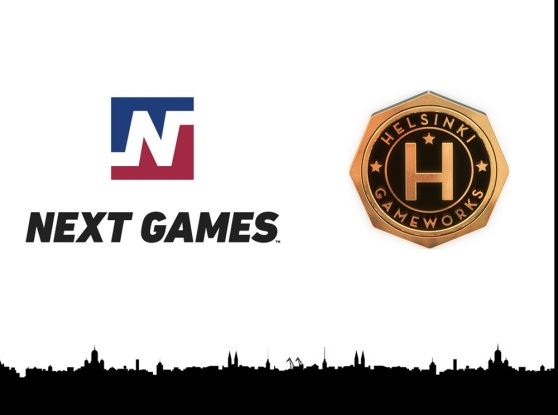 Next Games and Helsinki GameWorks logos