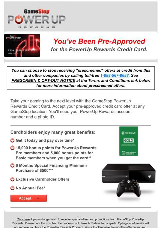 An email GameStop is sending to some of its customers.