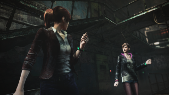 Claire Redfield and Moira Burton find themselves captured in an infected-filled prison in the demo.