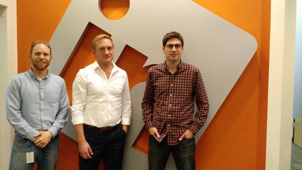 From left, senior data scientist Jason Schissel, staff software engineer Jacob Bollinger, and senior data scientist Mathieu Bastian.