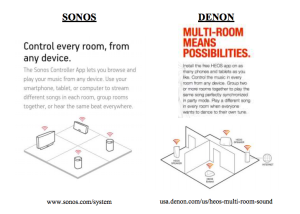 Another comparison presented in Sonos's legal claim against Denon.