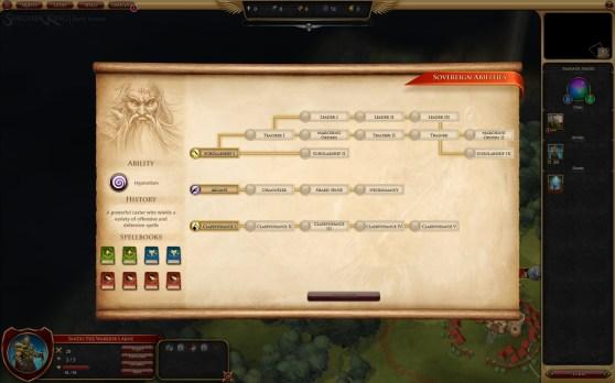 Sorcerer King sovereign abilities skill tree