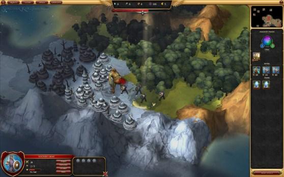 Sorcerer King team auto battles an ogre