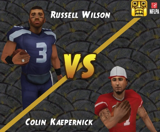 Temple Run 2 with NFL quarterbacks