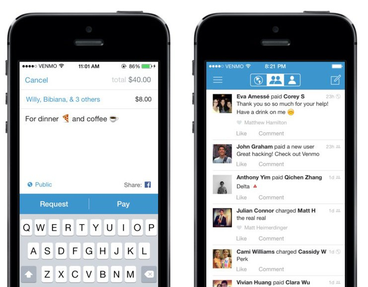 Venmo makes it easy to instantly pay people