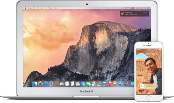 yosemite ios 8 call