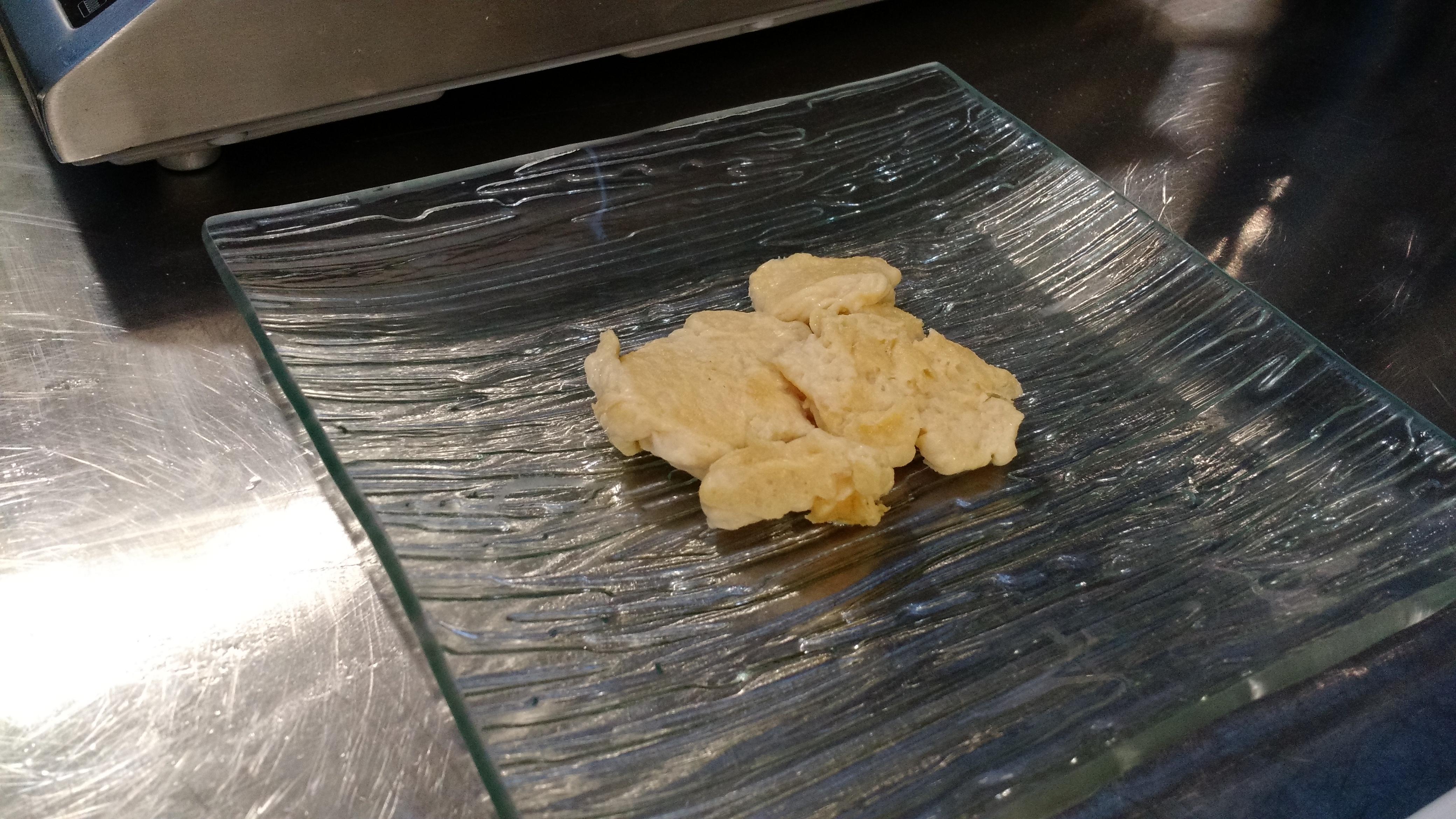 Scrambled eggs, Hampton Creek style, courtesy of research and development chef Ben Roche.