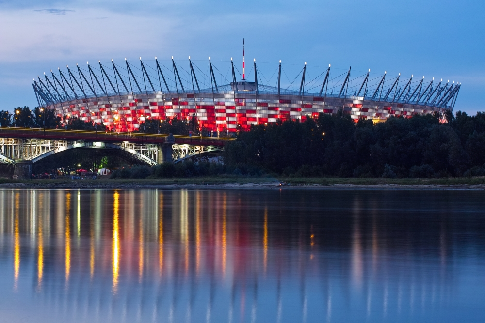 The new national stadium in Warsaw, previously home to pirated game sales.